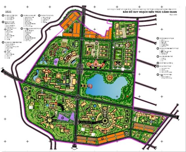 Quy hoạch khu Y tế và giáo dục tập trung huyện Đan Phượng, Hà Tây (cũ); Quy mô: khu Y tế: 104,5 ha; khu giáo dục:  156 ha. Kiến trúc sư